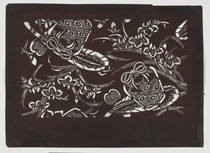 Szablon farbiarski katagami, nieznany (rzemieślnik)