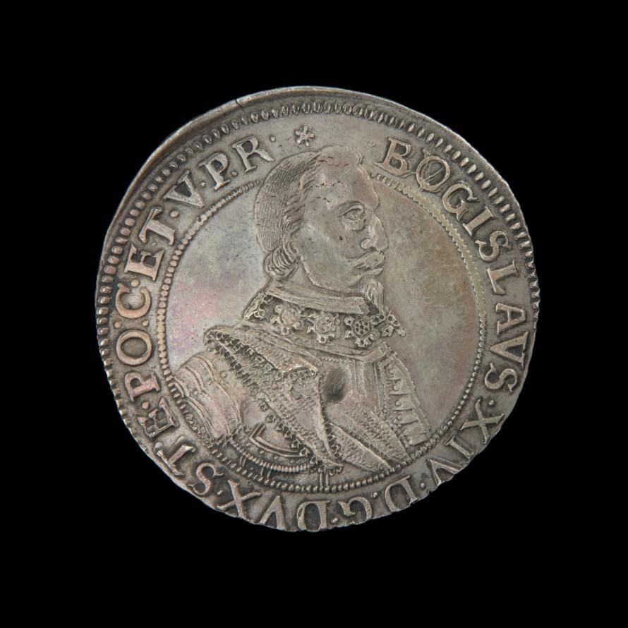 Talar, Tabbert, Gottfried (przed 1618-1664) (rytownik); Wilcke, Chrystian (czynny 1617-1633?) (mincmistrz); Bogusław XIV, książę pomorski (1580-1637) (emitent)