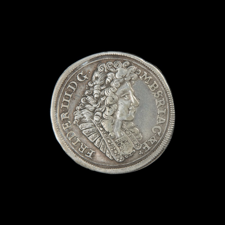 Gulden; 2/3 talara, Dannies, Sigmund (czynny około 1689-1690) (mincmistrz); Fryderyk III, król pruski (1657-1713) (emitent)