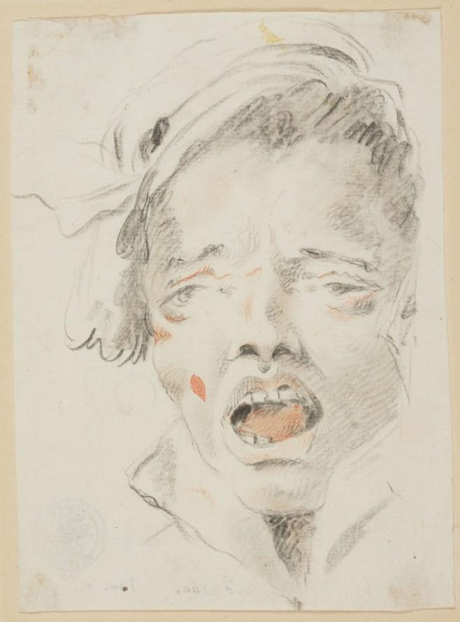 Głowa krzyczącego mężczyzny, Tieopolo, Giambattista (1696-1770)