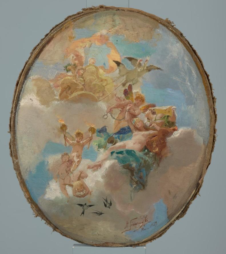 Szkic wstępny plafonu do pałacu Jurija Stefanowicza Niczajewa-Malcewa w Petersburgu