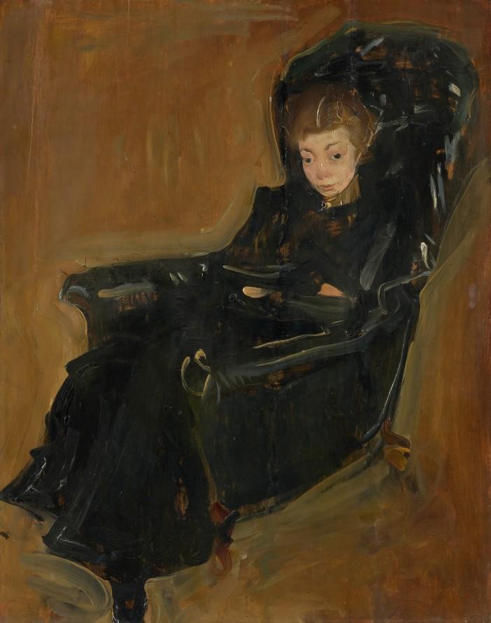Studium do portretu żony, KRZYŻANOWSKI Konrad (1827-1922) (malarz)