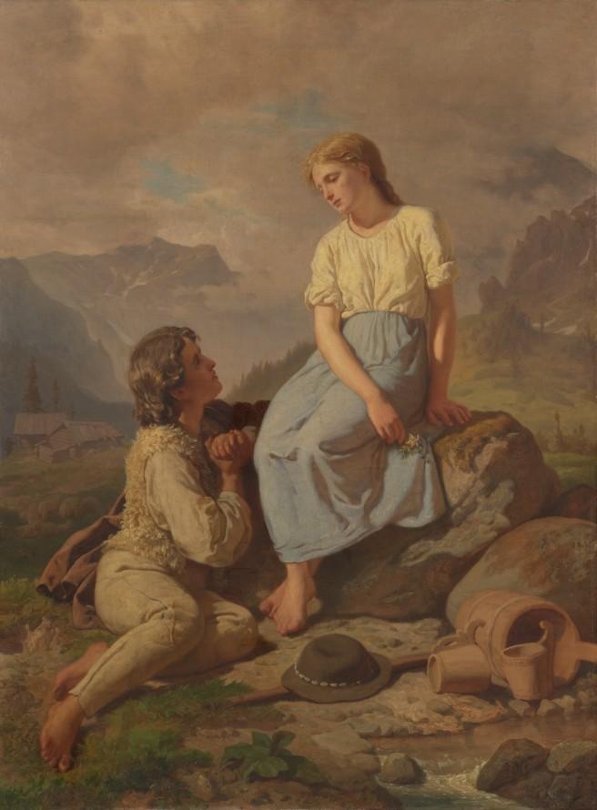 Dzieci góralskie (Przysięga na szarotkę) , GERSON Wojciech (1831-1901) (malarz)
