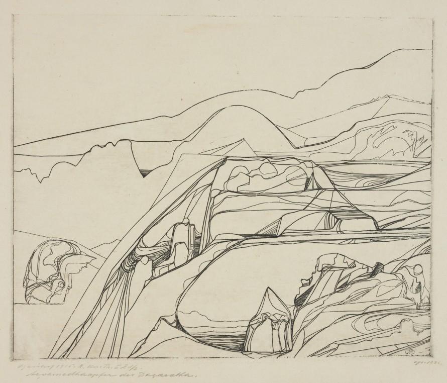 Ofiara Daçarathy z wody i ziemi (Świat marzeń), Reichel, Carl Anton (1874-1944) (rytownik)