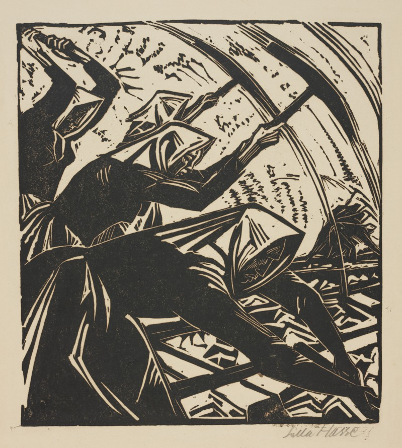 Robotnice torowe (Kobiety przy pracy), Hasse Sela (Bitterfeld 1878 - Berlin 1963) (rytownik)