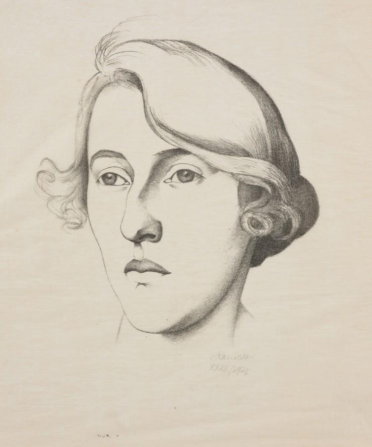Głowa dziewczyny II (Głowa kobiety), Kanoldt, Alexander (Karlsruhe 1881- Berlin 1939) (grafik)