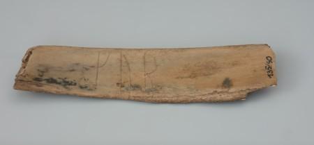 Kość z napisem runicznym