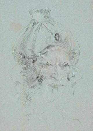 Głowa mężczyzny w orientalnym nakryciu głowy (dawniej: Głowa arcykapłana)
