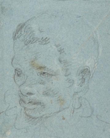 Głowa Murzyna (dawniej: Studium głowy pazia schodzącego po schodach)